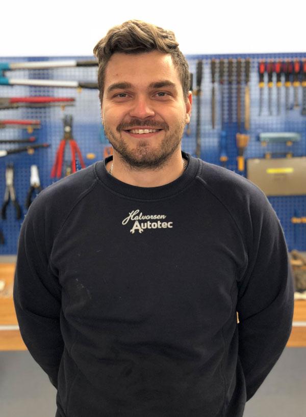 Andre Frisk, mekaniker Halvorsen Autotec, Vissenbjerg