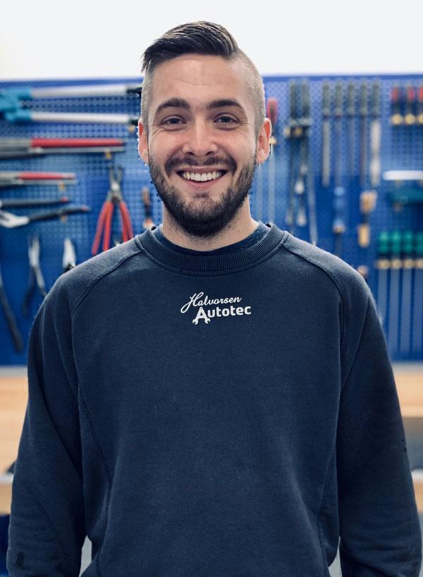 Evan Stigaard, mekaniker, Halvorsen Autotec i Vissenbjerg